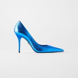 Blue collection metallic leather